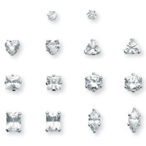 7-Paircubic zirconia Earring Set