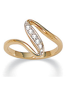 Cubic Zirconia Free-Form Ring by PalmBeach Jewelry