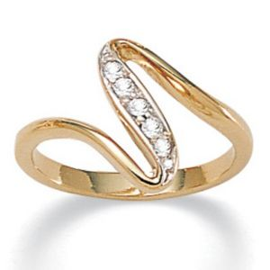 Cubic Zirconia Free-Form Ring