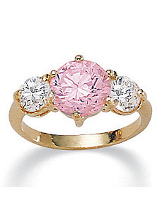 Pink Icecubic zirconia Ring by PalmBeach Jewelry