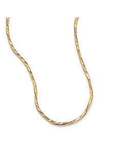 14k Tornado-Link Necklace 24