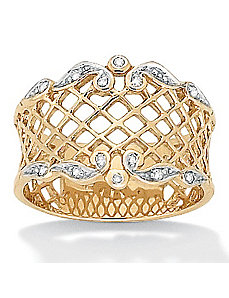 Diamond Accent 10k Gold Ring by PalmBeach Jewelry