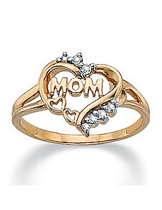 Mom Heart Diamond Accent Ring by PalmBeach Jewelry