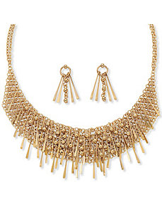 2-Piece Bib Necklace/Earring Set by PalmBeach Jewelry
