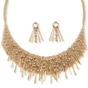 2-Piece Bib Necklace/Earring Set