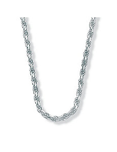 "Diamond-Cut Rope SS Necklace 20"" by PalmBeach Jewelry"
