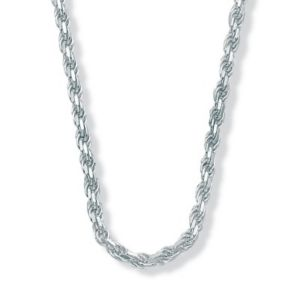Diamond-Cut Rope SS Necklace 20""
