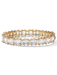 "Cubic Zirconia Bangle Bracelet 7 1/2"" by PalmBeach Jewelry"
