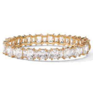 "Cubic Zirconia Bangle Bracelet 7 1/2"""