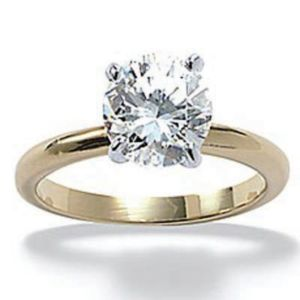 Tutonecubic zirconia Engagement Ring