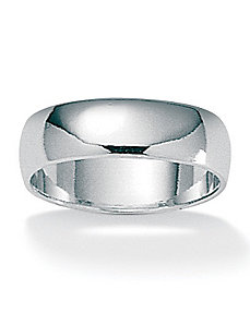 Silver Wedding Band by PalmBeach Jewelry