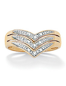 Chevron Diamond Accent Ring by PalmBeach Jewelry