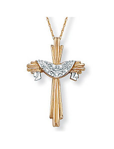 Diamond Accent 10k Cross Pendant by PalmBeach Jewelry