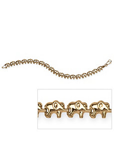 Elephant Bracelet in 10k Gold by PalmBeach Jewelry
