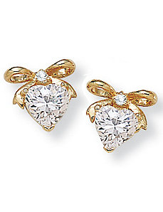 2.54 CT.T.W.cubic zirconia Bow-Shaped Earrings by PalmBeach Jewelry