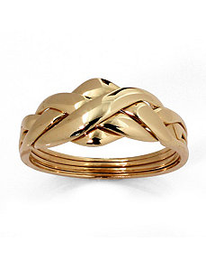10k Gold Puzzle Ring by PalmBeach Jewelry