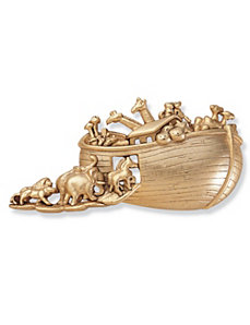 Antiqued Noah's Ark Pin by PalmBeach Jewelry