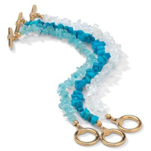 Genuine 3-Piece Multi-Gem Bracelet
