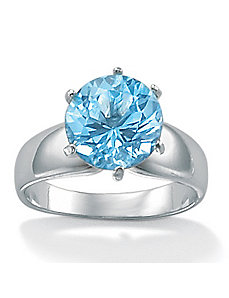 Blue Topaz Silver Ring by PalmBeach Jewelry