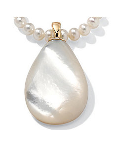 Mother-Of-Pearl 14k Pendant by PalmBeach Jewelry