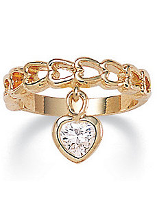 Cubic Zirconia Heart Ring by PalmBeach Jewelry