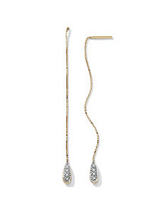 Diamond Accent 10k Gold Earrings by PalmBeach Jewelry