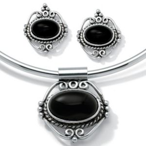 2-Piece Onyx Collar/Earring Set