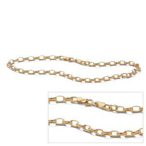 """10k Curb-Link Ankle Bracelet 9"""""""