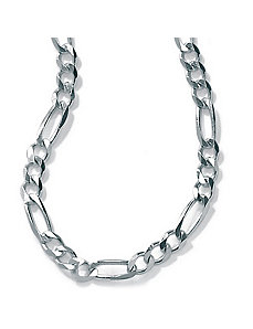 "Silver Figaro Chain 20"" by PalmBeach Jewelry"