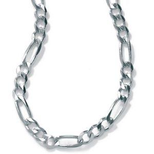 """Silver Figaro Chain 20"""""""
