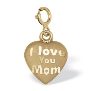 "14k Gold""I Love You Mom""Charm"