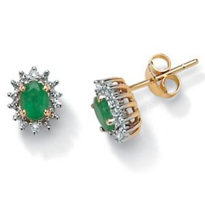 Emerald 10k Gold Earrings