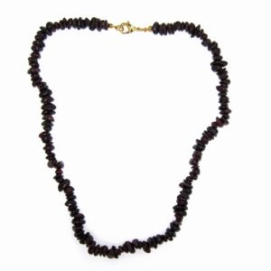 Goldtone Garnet Necklace