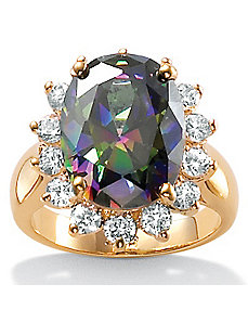 Starlightcubic zirconia 18k/SS Ring by PalmBeach Jewelry