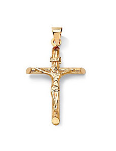 14k Gold Crucifix Charm by PalmBeach Jewelry