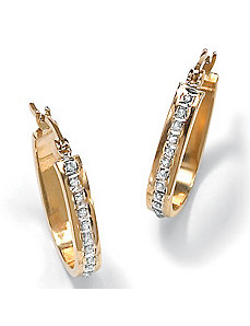 Diamond Fascination 14k Earrings by PalmBeach Jewelry