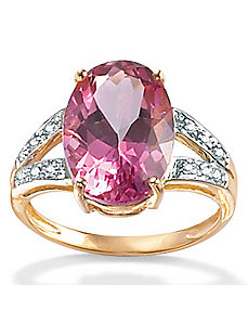 Sunset Rose Topaz 10k Gold Ring by PalmBeach Jewelry