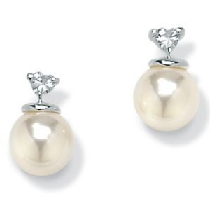 Sim. Pearl Silver Earrings