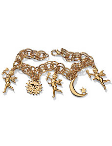 "Sun, Moon & Angel Bracelet 7 1/2"" by PalmBeach Jewelry"