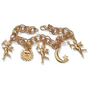 Sun, Moon & Angel Bracelet 7 1/2""