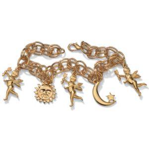 """Sun, Moon & Angel Bracelet 7 1/2"""""""