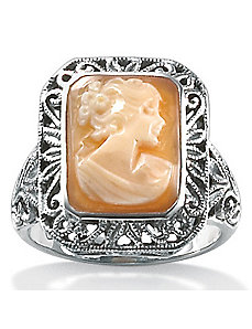 Silver Cameo Ring by PalmBeach Jewelry