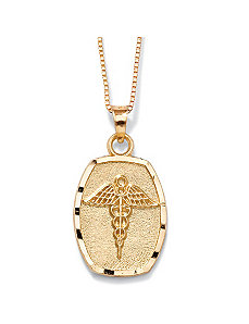 14k Gold Medical Symbol Charm by PalmBeach Jewelry