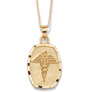 14k Gold Medical Symbol Charm