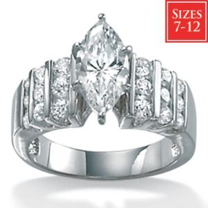 Cubic Zirconia Platinum/SS Ring