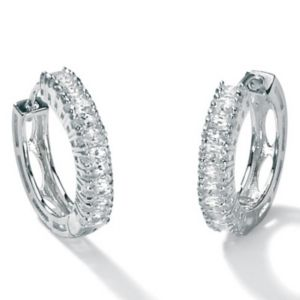 Cubic Zirconia Platinum/SS Earrings