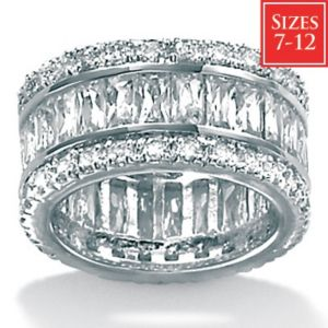 Cubic Zirconia Platinum/SS Eternity Ring