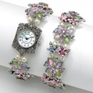 2-Piece Watch/Bracelet Set 7 1/2""