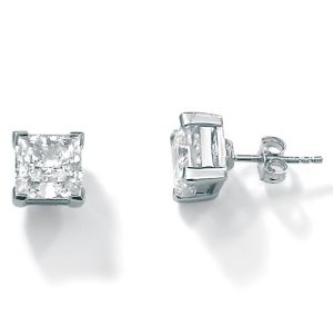 5 CT.T.W. Cubic Zirconia Platinum/SS Earrings