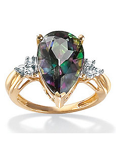 Mystic Topaz 10k Gold Ring by PalmBeach Jewelry